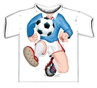 Picture of Blue Footballer Just Add A Kid T-Shirt.